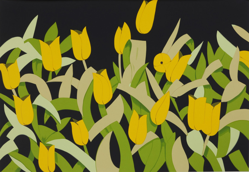 Alex KATZ (Né en 1927) Yellow Tulips - 2014 Sérigraphie en 15 couleurs
