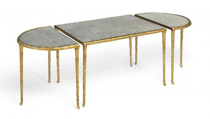 TABLE BASSE, XXe SIÈCLE Attribuée à Maison Bagues