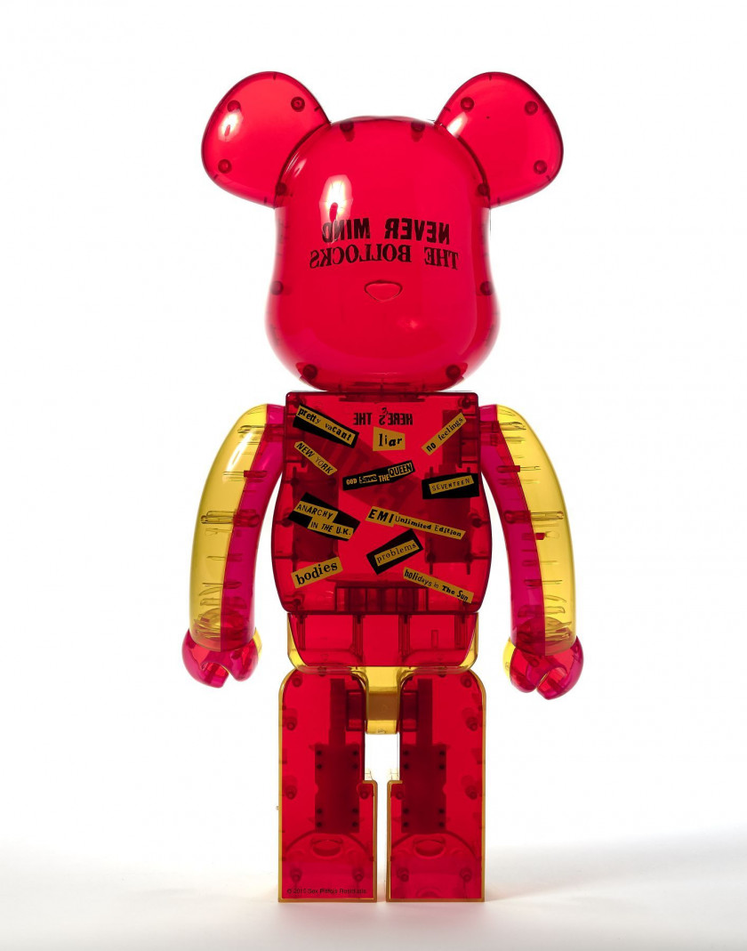 MEDICOM x Sex Pistols  Be@rbrick 1000% / Never Mind the Bollocks Here's the Sex Pistols / Clear ver. ABS peint et moulé
