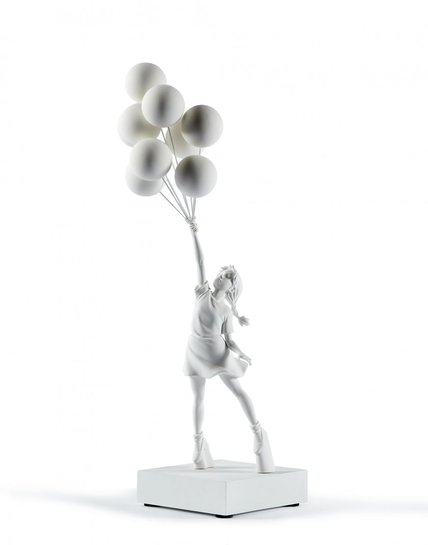 BANKSY x MEDICOM xBRANDALISM  Flying balloons girl (white version) - 2018 Polypropylène