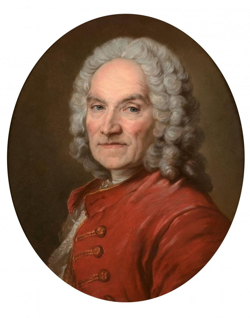 Ecole française du XVIIIe siècle Portrait du sculpteur Jean-Louis Lemoyne...